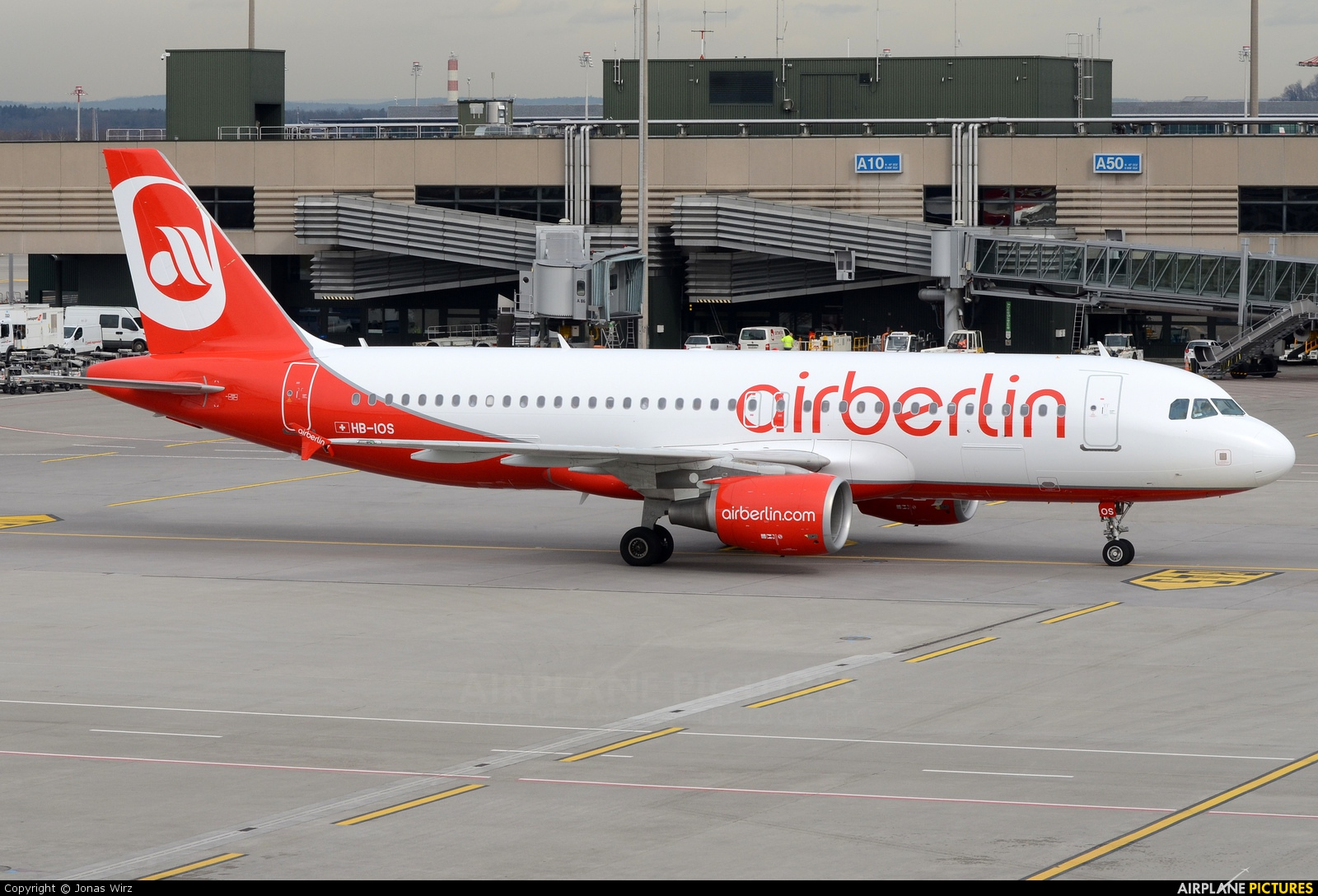 Air Berlin - Belair HB-IOS aircraft at Zurich