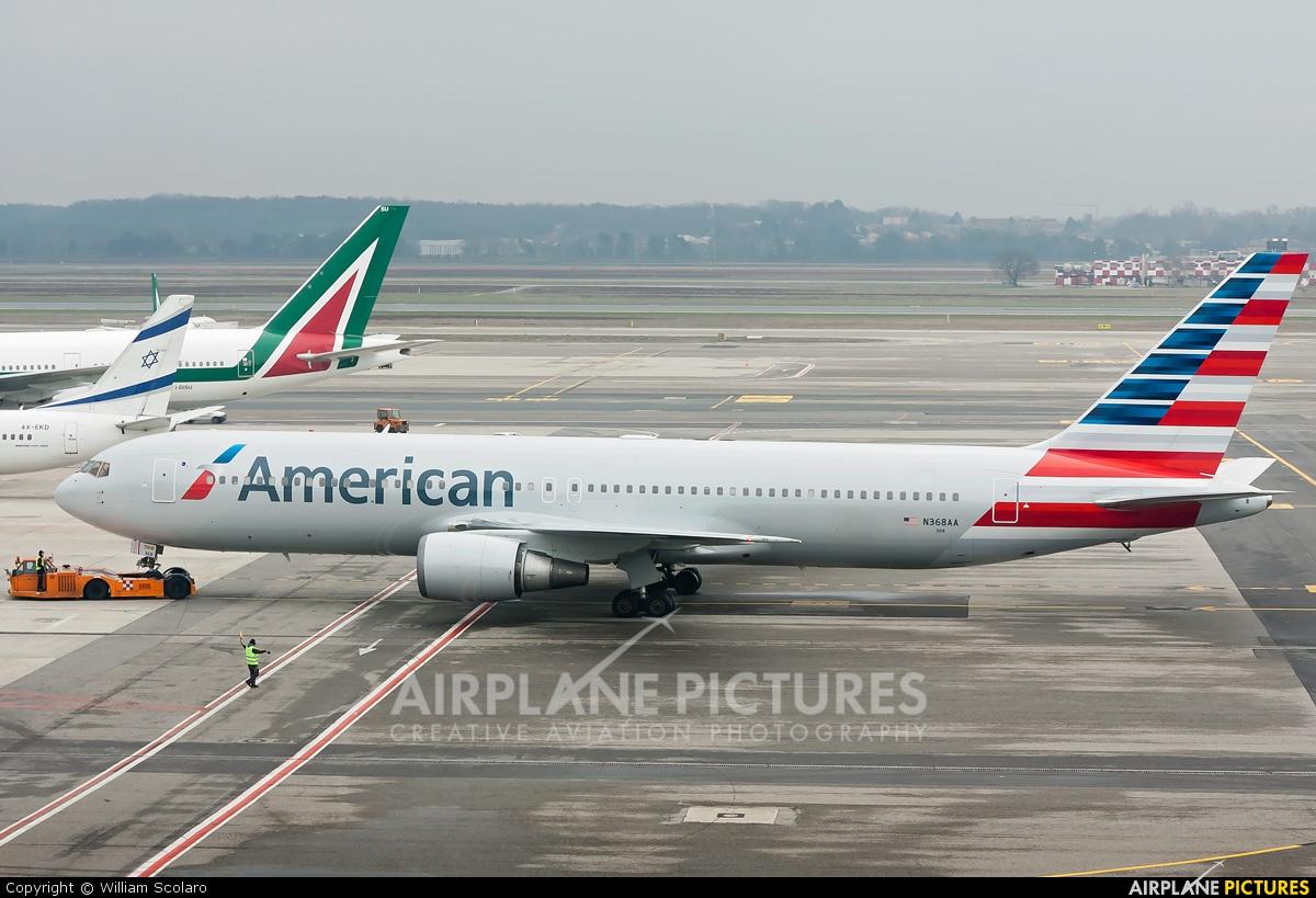 N368AA - American Airlines Boeing 767-300ER at Milan ...