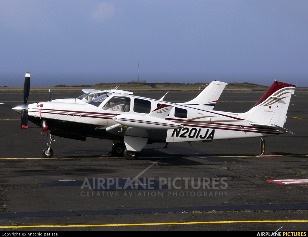Private N201JA aircraft at Azores - Santa Maria