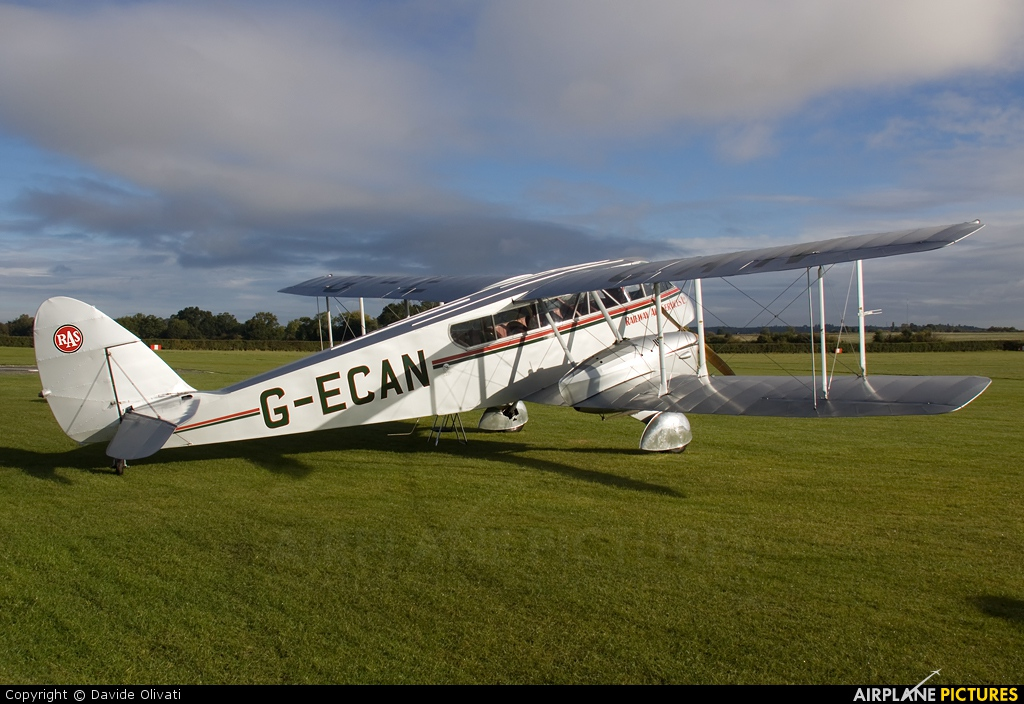 Private G-ECAN aircraft at Old Warden