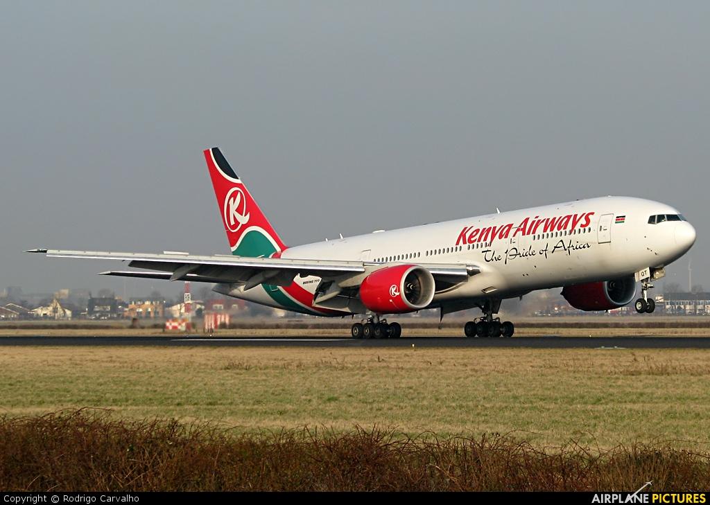 Kenya Airways 5Y-KQT aircraft at Amsterdam - Schiphol