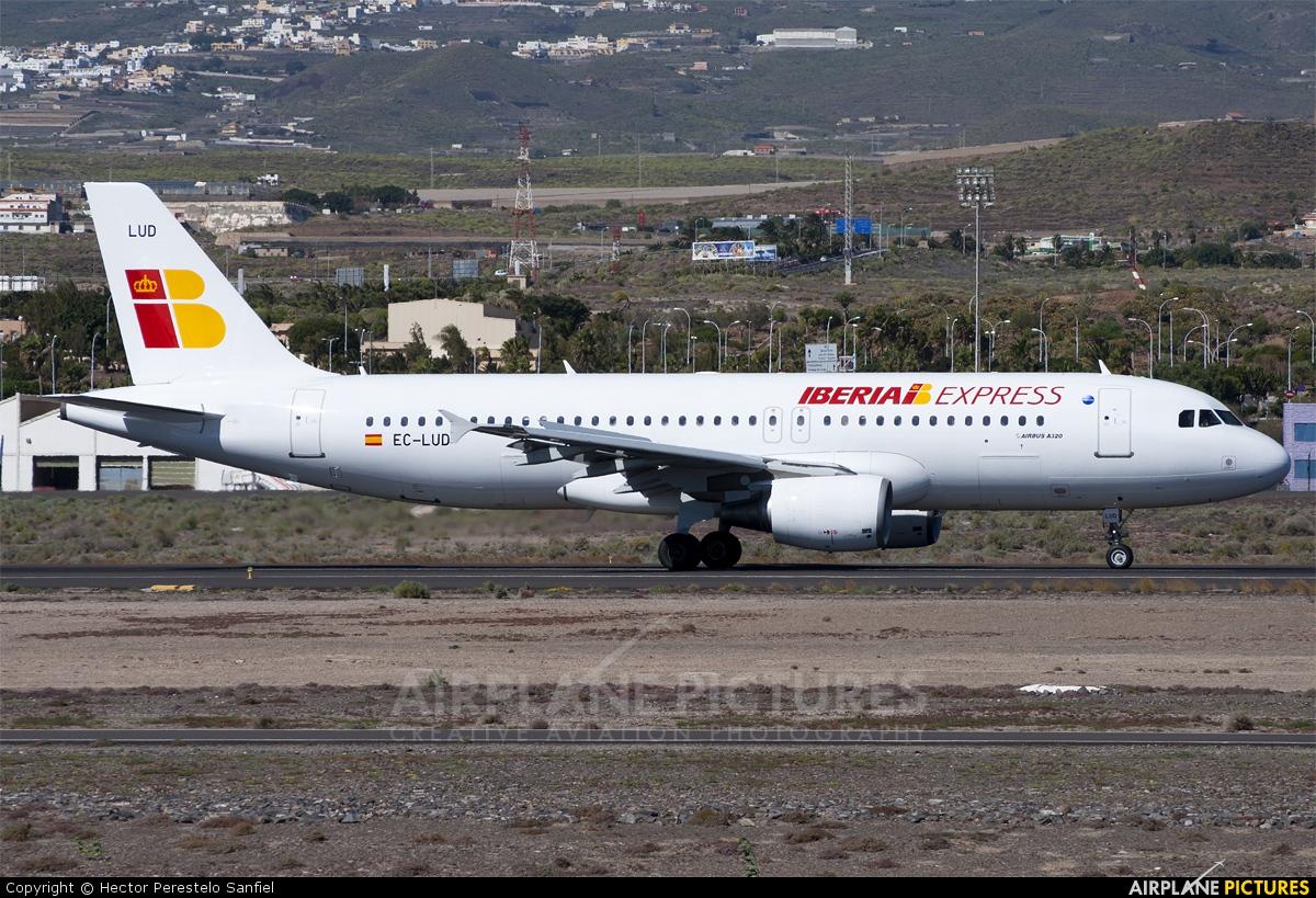 Iberia Express EC-LUD aircraft at Tenerife Sur - Reina Sofia