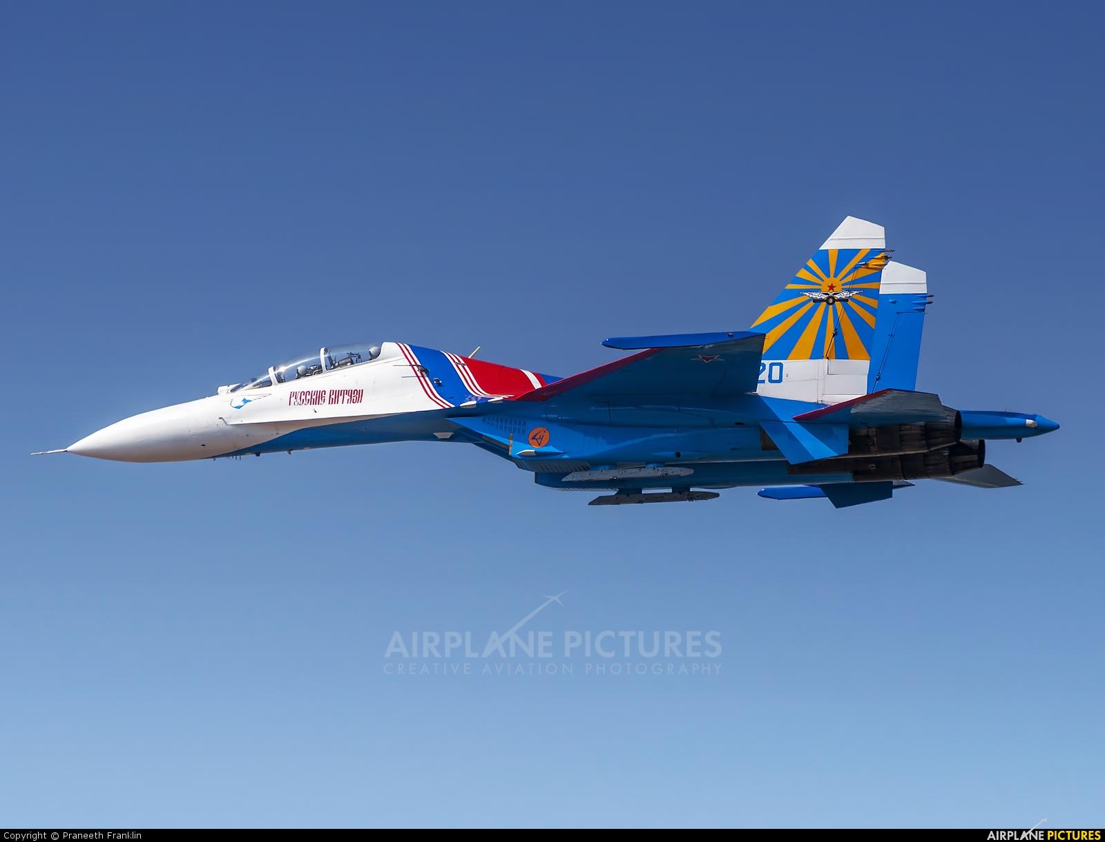 """Russia - Air Force """"Russian Knights"""" 20 aircraft at Yelahanka AFB"""