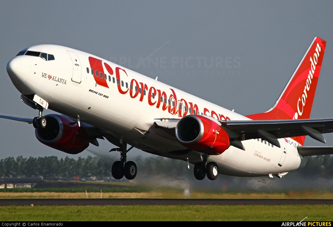TC-TJG - Corendon Airlines Boeing 737-800 at Amsterdam - Schiphol ...
