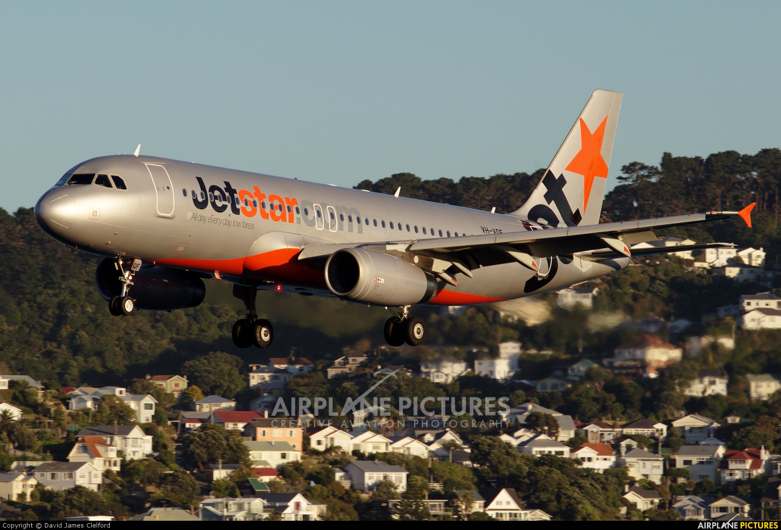 Jetstar Airways VH-VQF aircraft at Wellington Intl