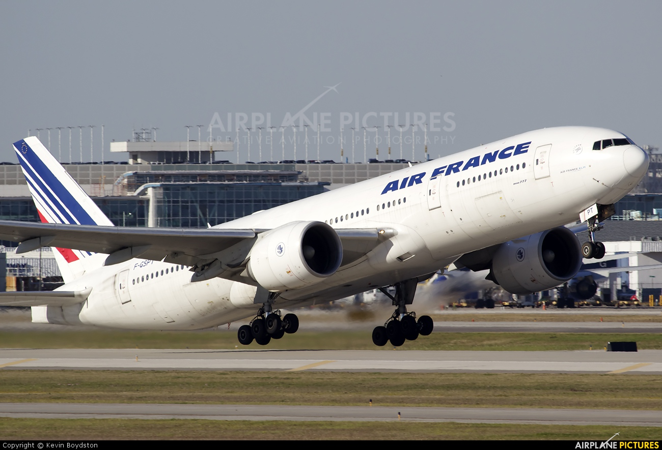 Air France F-GSPT aircraft at Houston - George Bush Intl