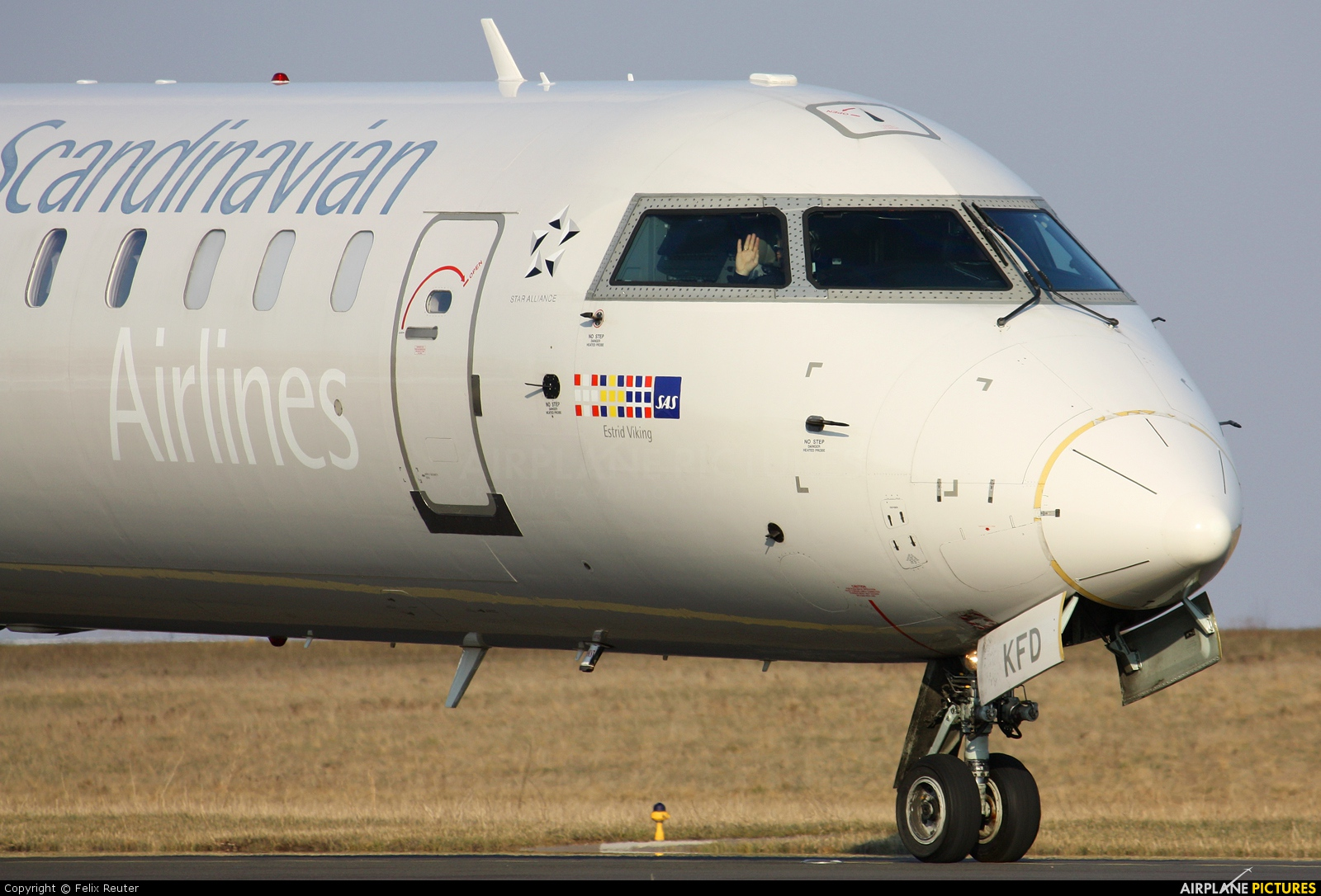 SAS - Scandinavian Airlines OY-KFD aircraft at Luxembourg - Findel