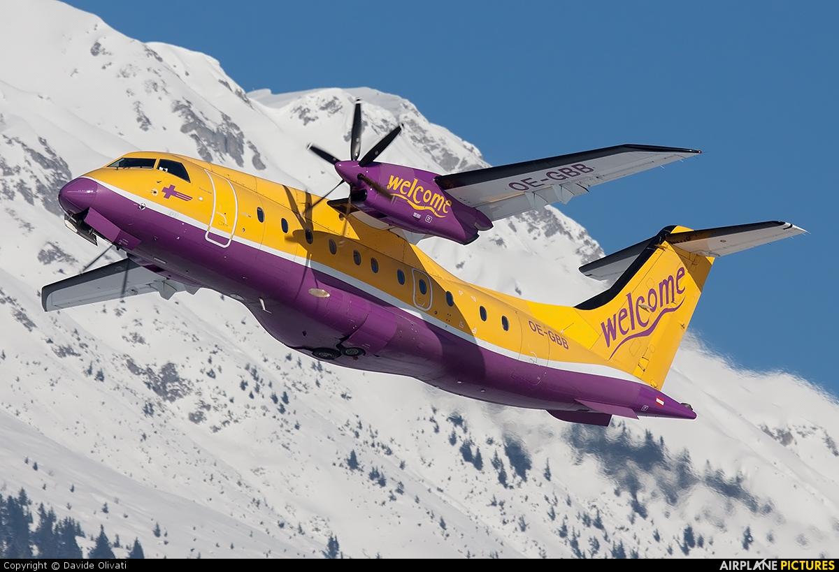 Welcome Air OE-GBB aircraft at Innsbruck