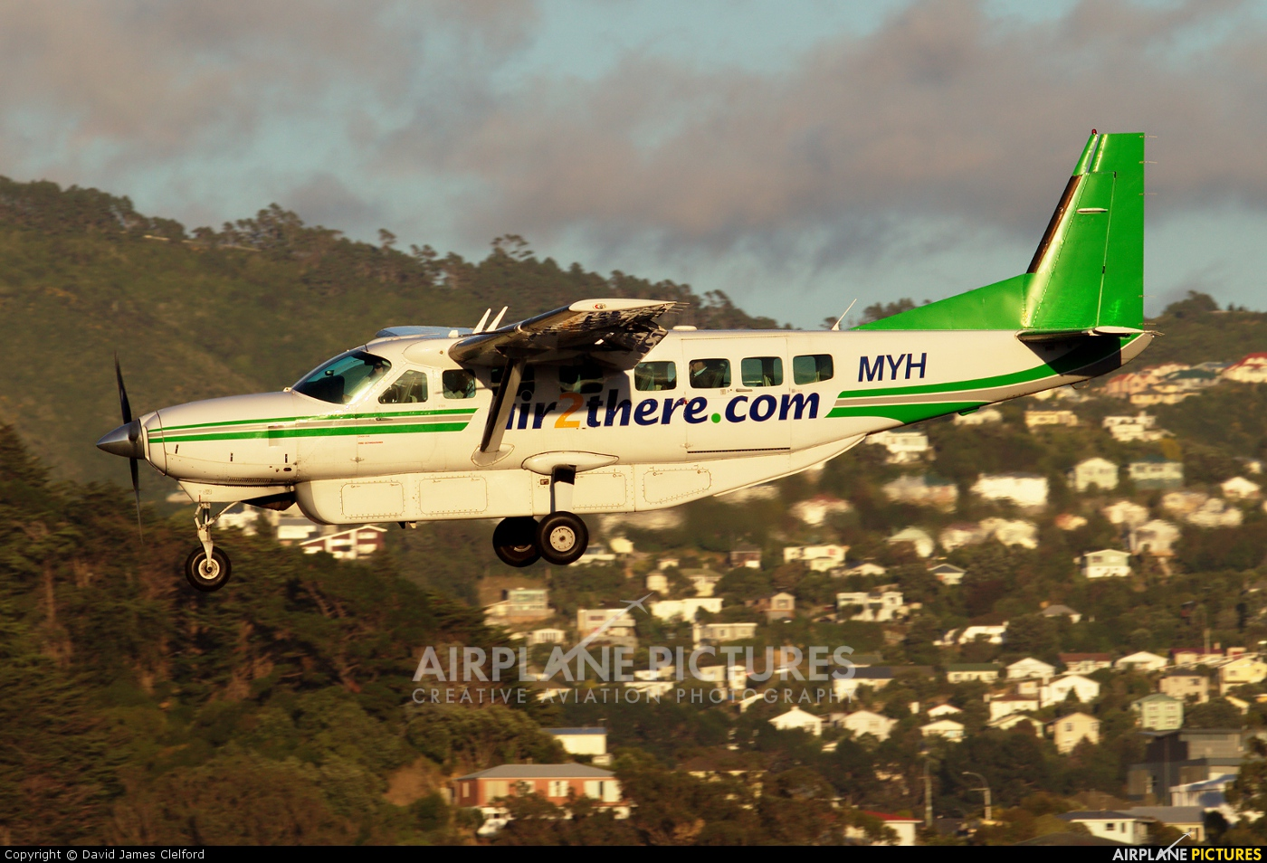 Air2there.com ZK-MYH aircraft at Wellington Intl