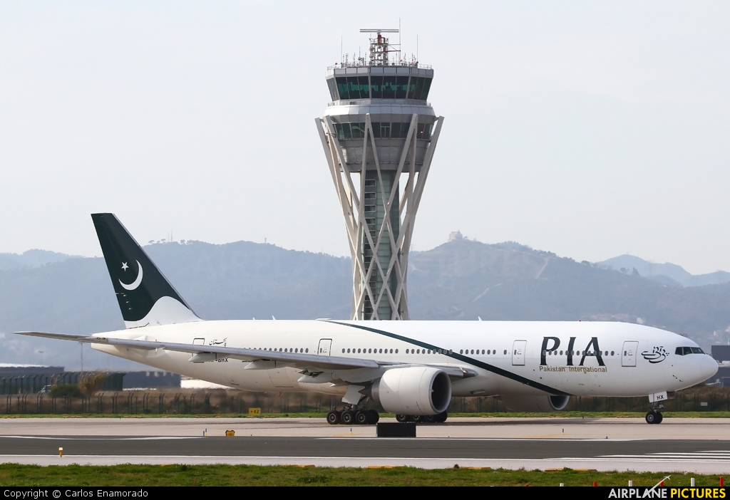 PIA - Pakistan International Airlines AP-BHX aircraft at Barcelona - El Prat