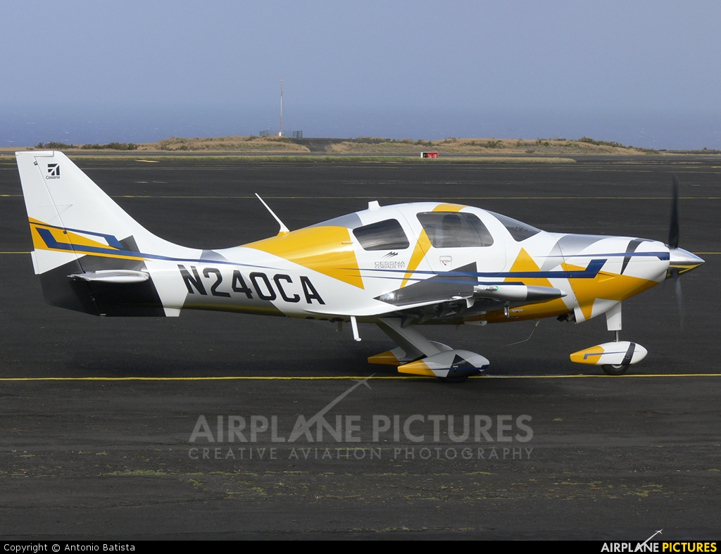 Private N240CA aircraft at Azores - Santa Maria