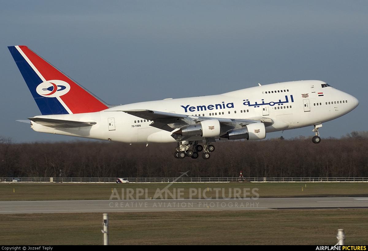 Yemenia - Yemen Airways 7O-YMN aircraft at Budapest Ferenc Liszt International Airport