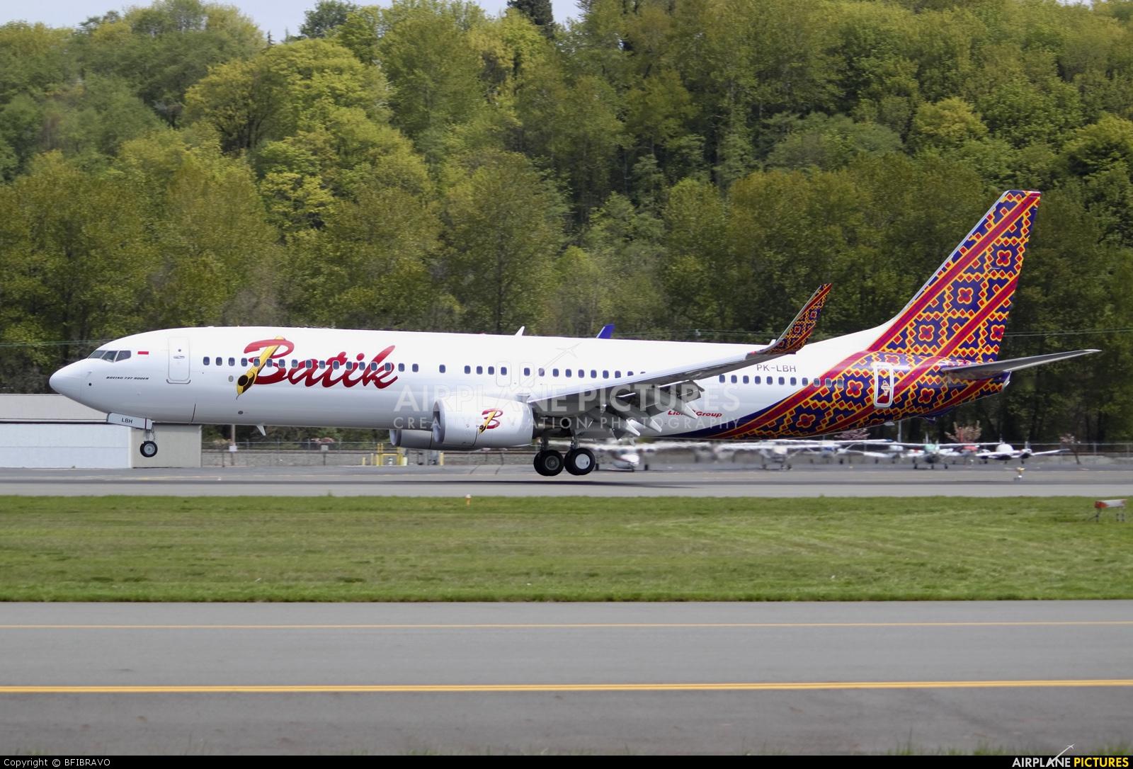 Batik Air PK-LBH aircraft at Seattle - Boeing Field / King County Intl