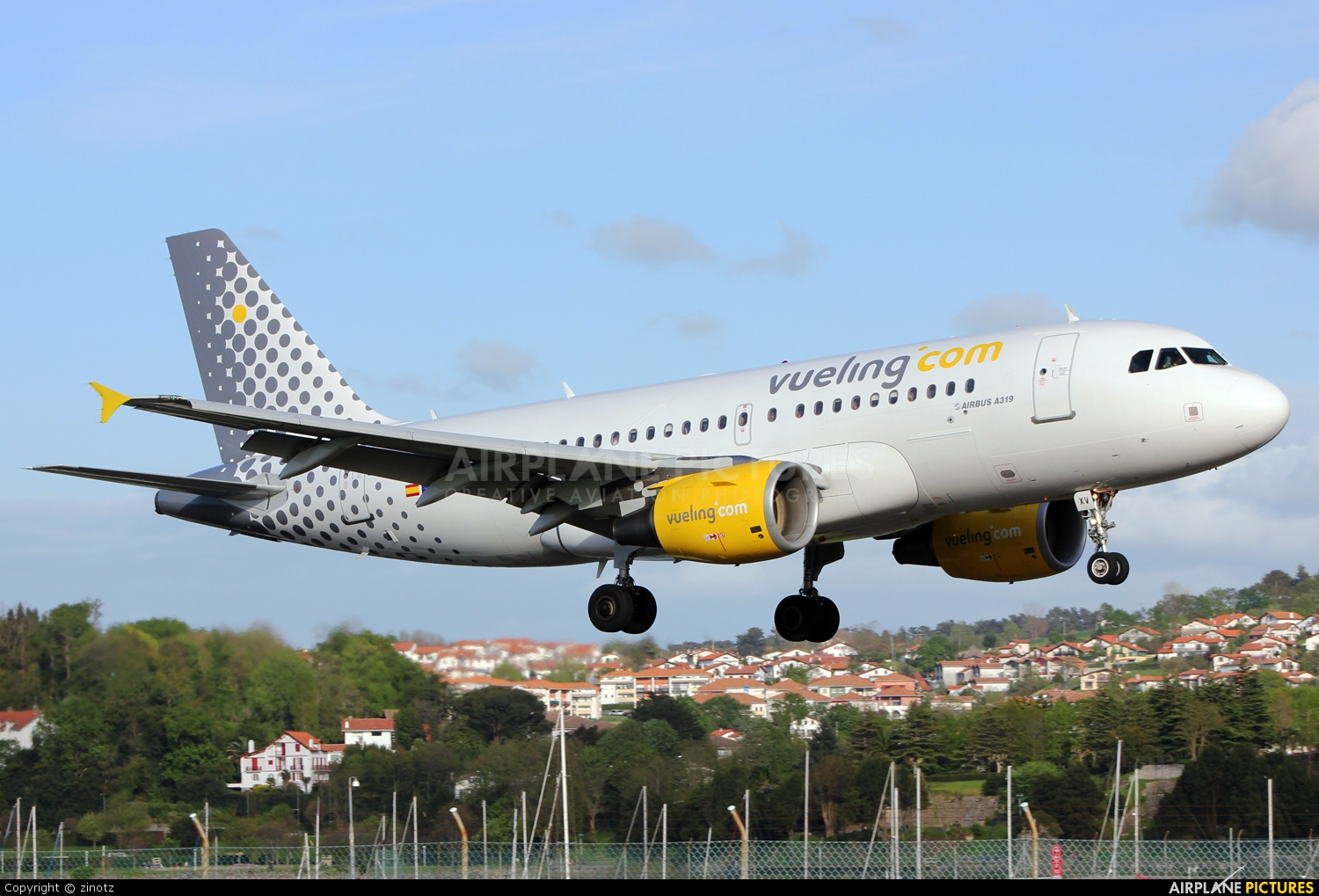 Vueling Airlines EC-JXV aircraft at San Sebastian