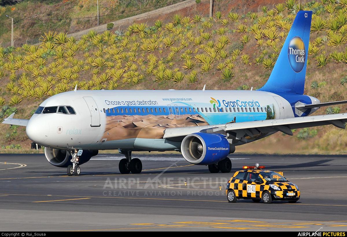 Thomas Cook Belgium OO-TCI aircraft at Madeira