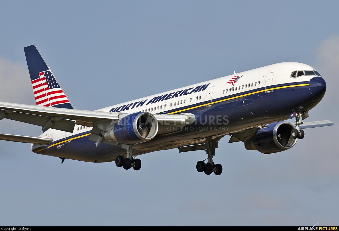 North American Airlines N760NA aircraft at London - Gatwick