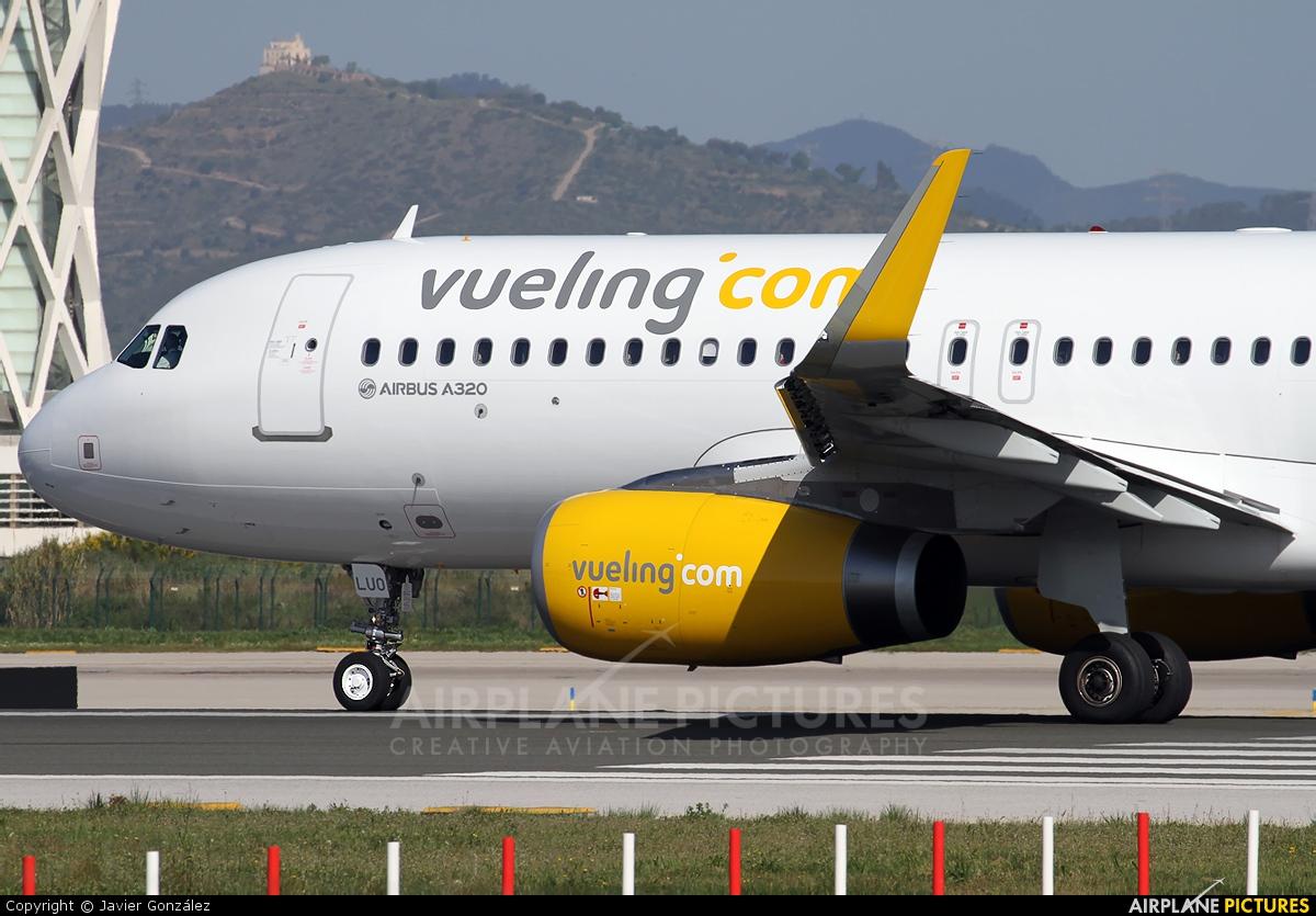 Vueling Airlines EC-LUO aircraft at Barcelona - El Prat