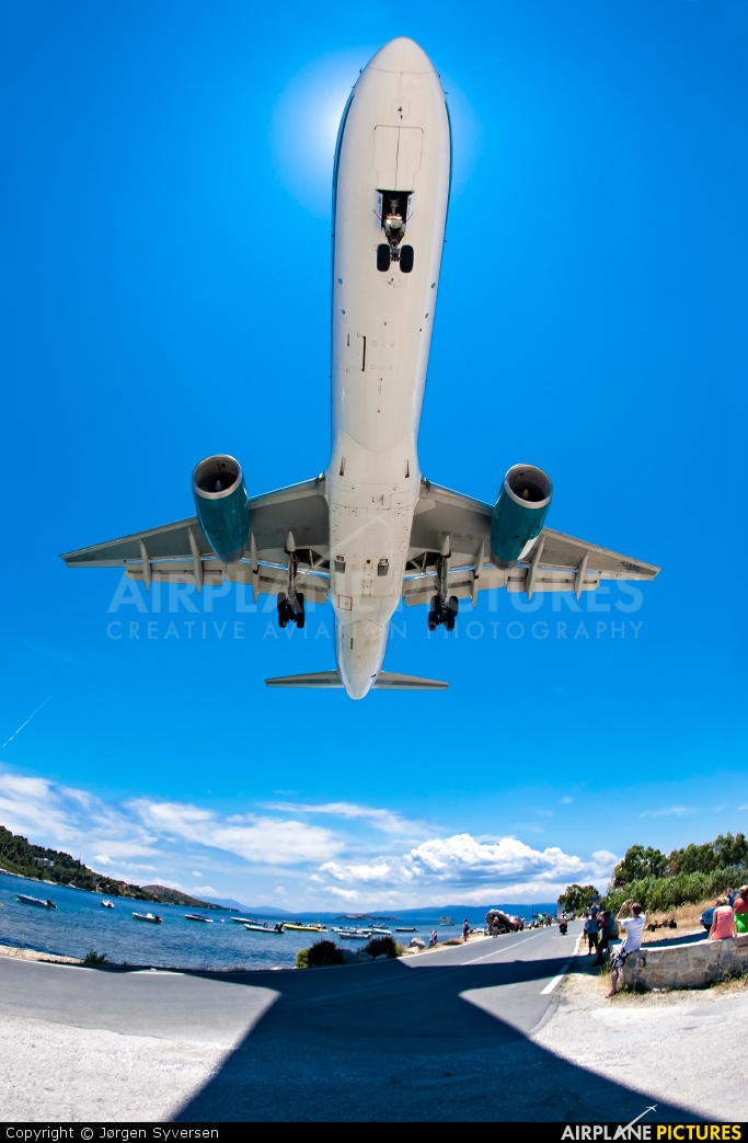 First Choice Airways G-OOBC aircraft at Skiathos