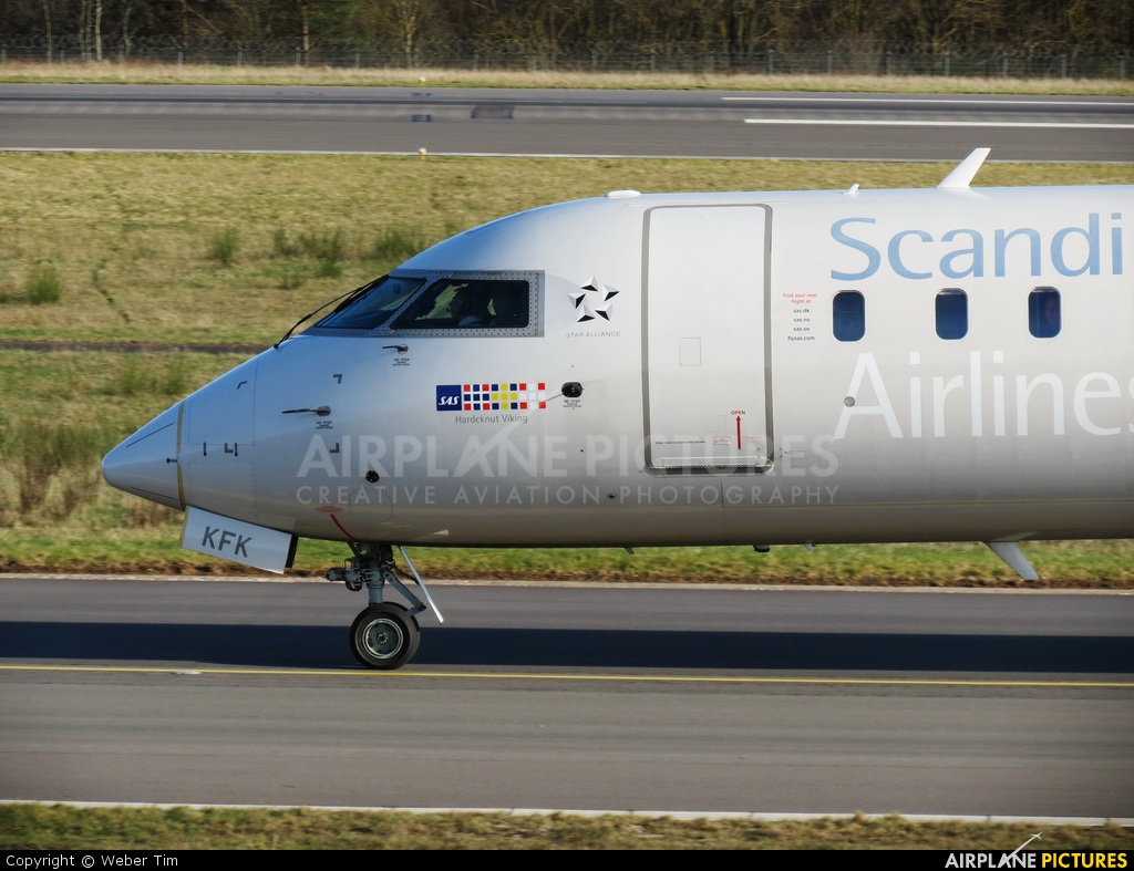 SAS - Scandinavian Airlines OY-KFB aircraft at Luxembourg - Findel
