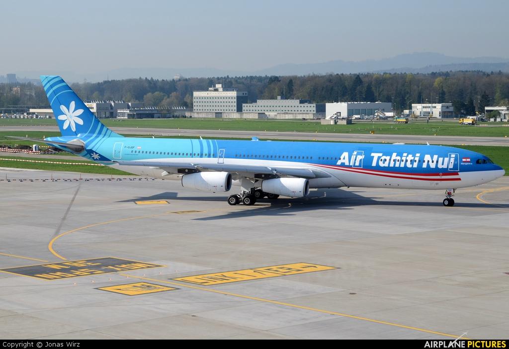 Air Tahiti Nui F-OJGF aircraft at Zurich