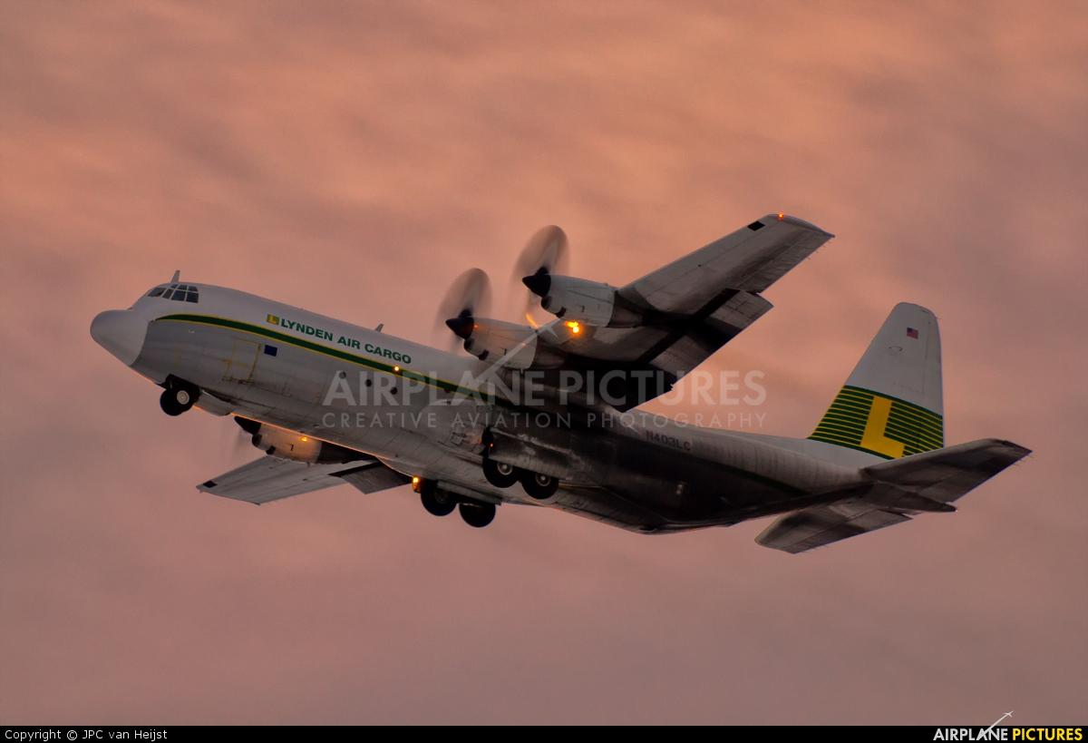 Lynden Air Cargo N403LC aircraft at Anchorage - Ted Stevens Intl / Kulis Air National Guard Base
