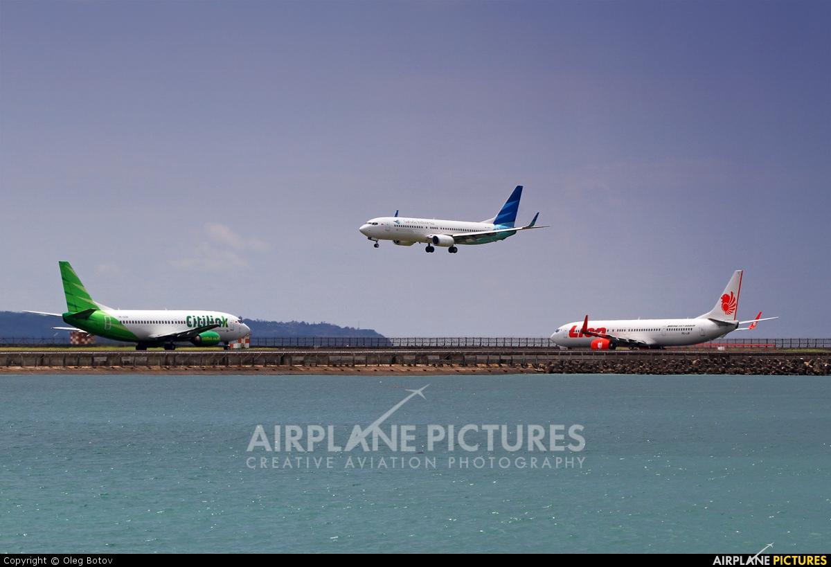 Garuda Indonesia PK-GFO aircraft at Denpasar- Ngurah Rai Intl