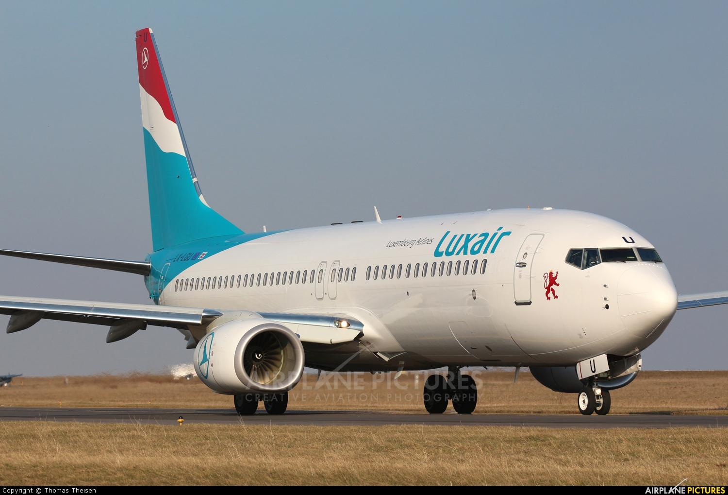 Luxair LX-LGU aircraft at Luxembourg - Findel