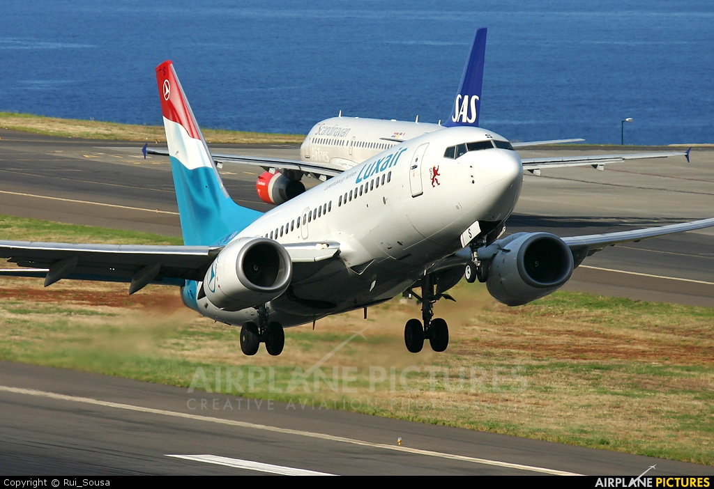 Luxair LX-LGS aircraft at Madeira