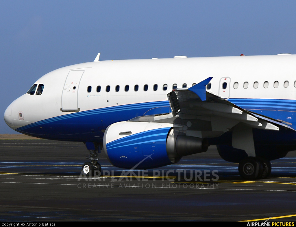 Twin Jet G-NMAK aircraft at Azores - Santa Maria