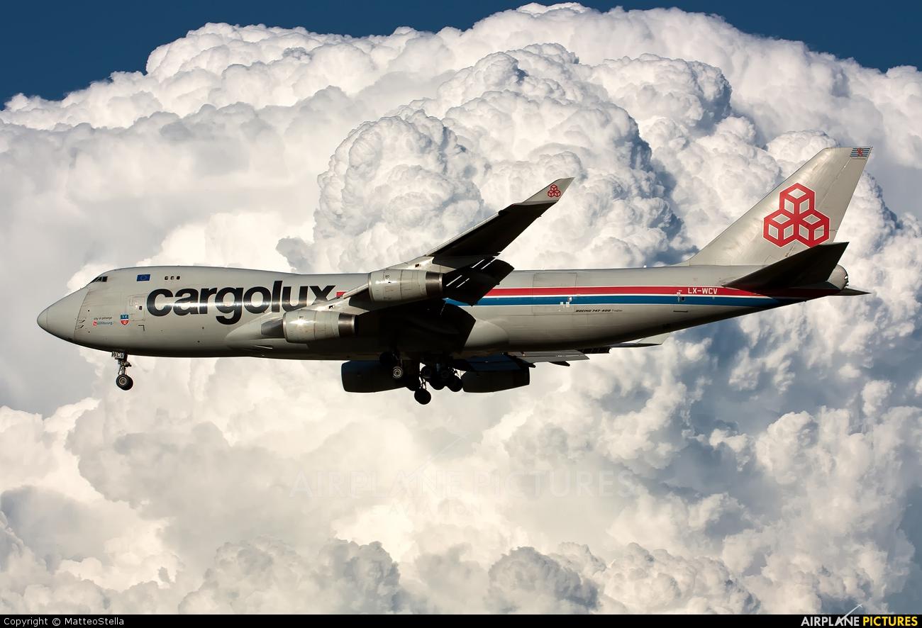 Cargolux LX-WCV aircraft at Milan - Malpensa