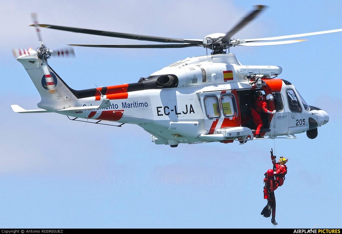 Spain - Coast Guard EC-LJA aircraft at Las Palmas de Gran Canaria