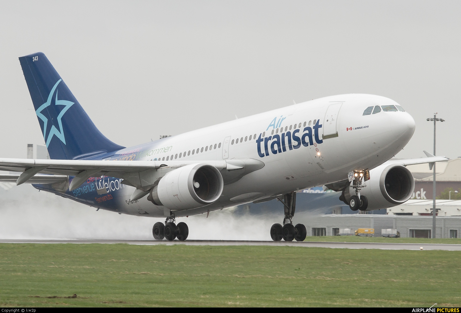 c gtsh air transat airbus a310 at glasgow photo id 289460 airplane pictures net