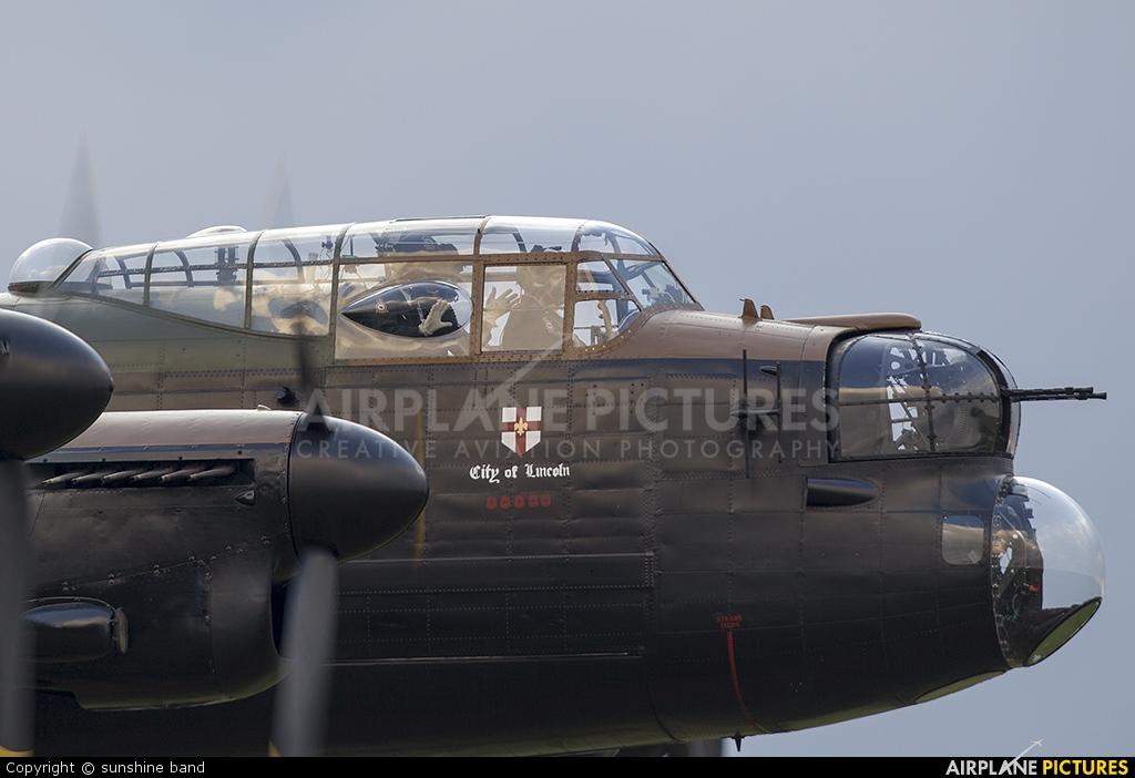 """Royal Air Force """"Battle of Britain Memorial Flight"""" PA474 aircraft at Scampton"""