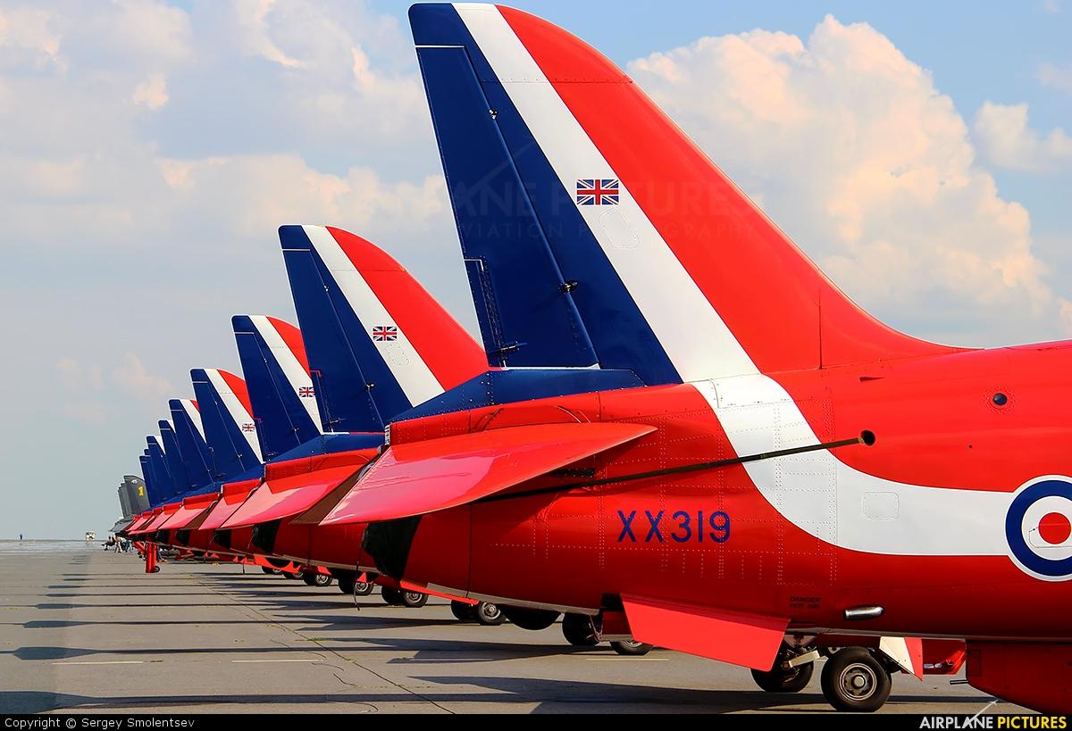 "Royal Air Force ""Red Arrows"" XX319 aircraft at Ramenskoye - Zhukovsky"