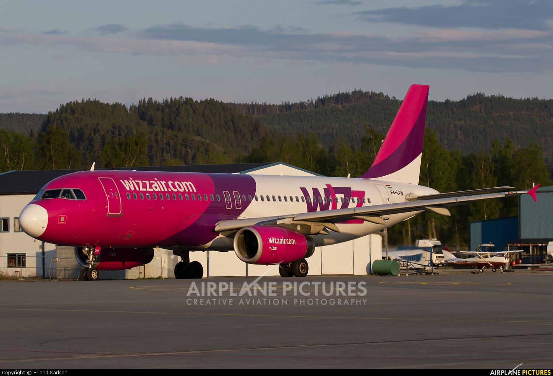 Wizz Air HA-LPN aircraft at Trondheim - Vaernes