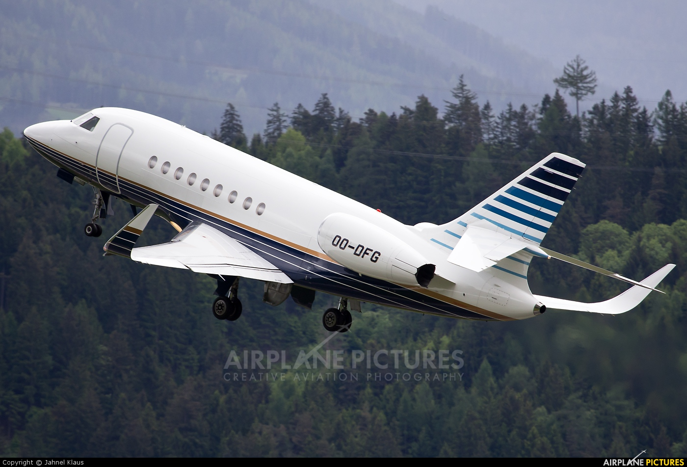 Abelag Aviation OO-DFG aircraft at Innsbruck