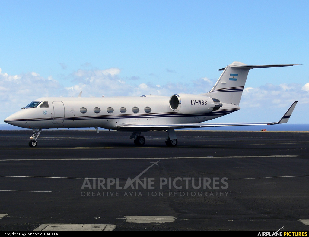 Private LV-WSS aircraft at Azores - Santa Maria
