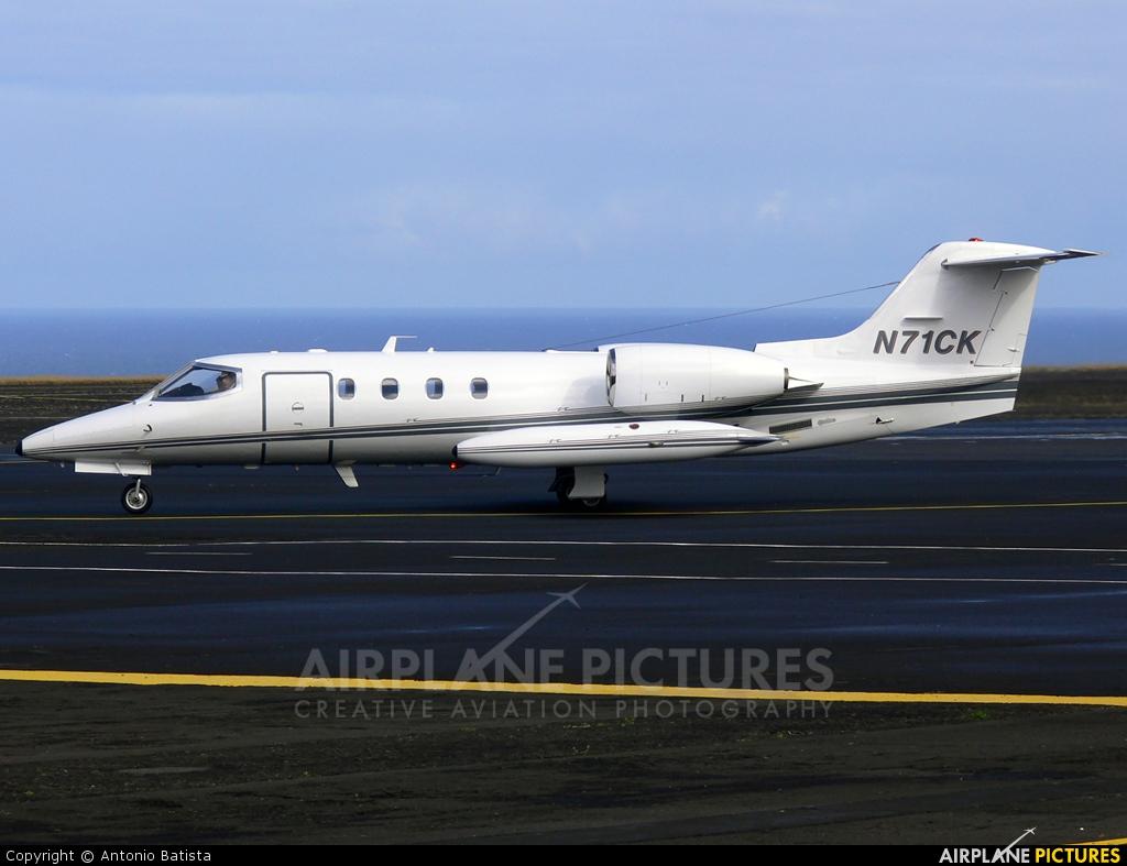 Private N71CK aircraft at Azores - Santa Maria