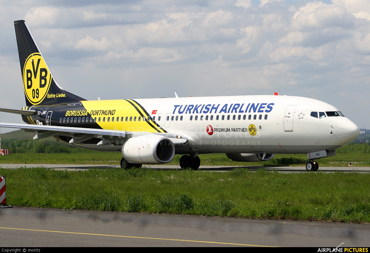 Turkish Airlines TC-JHU aircraft at Dortmund - Wickede