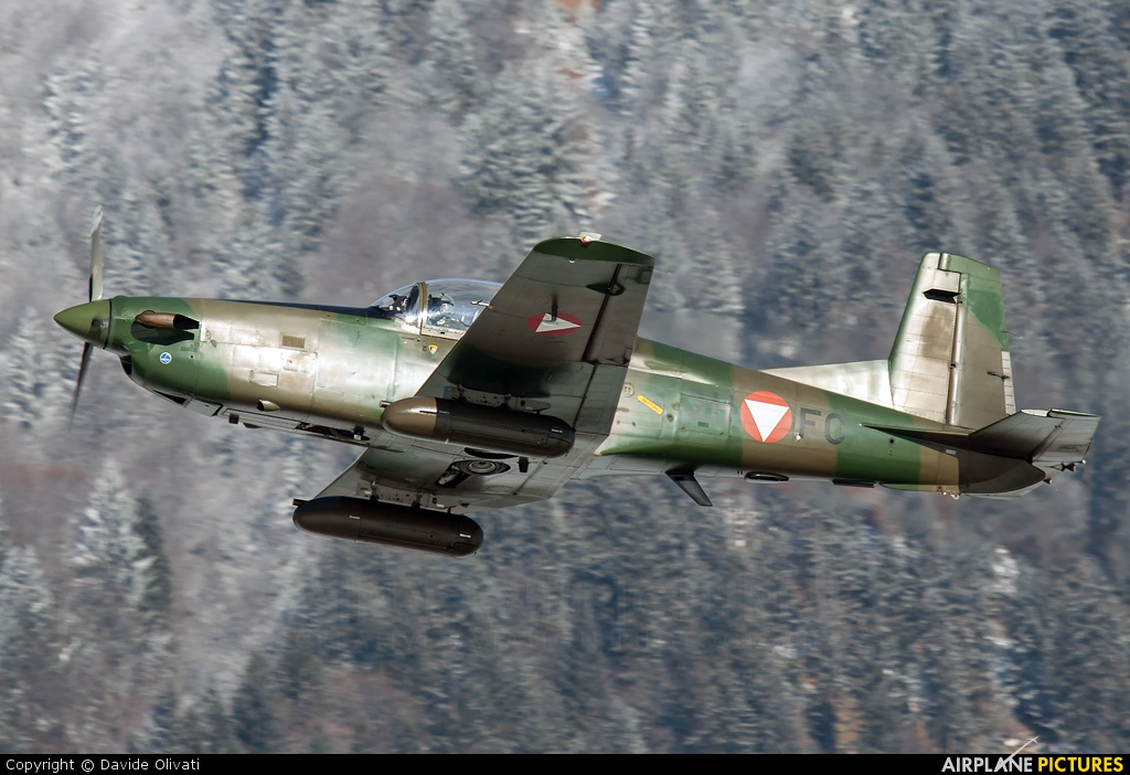 Austria - Air Force 3H-FO aircraft at Innsbruck
