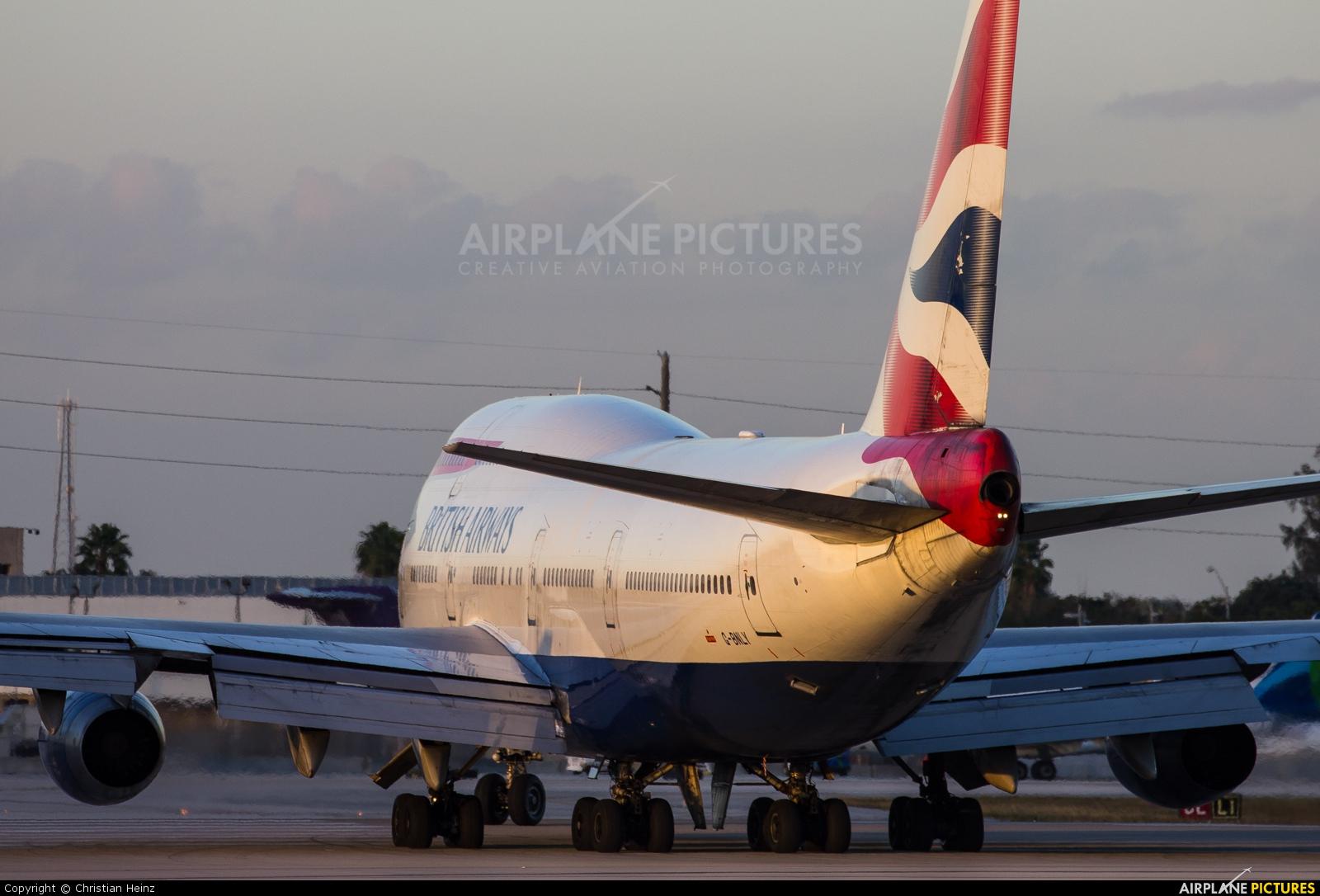 British Airways G-BNLY aircraft at Miami Intl