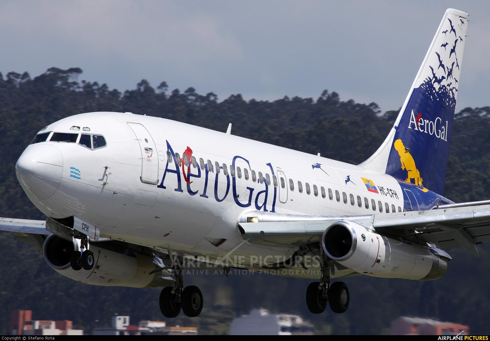 Aerogal HC-CFH aircraft at Quito - Mariscal Sucre