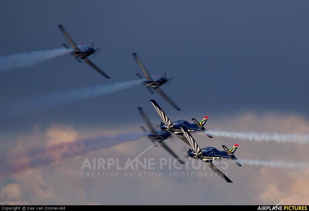 South Africa - Air Force: Silver Falcons 2018 aircraft at Swartkops
