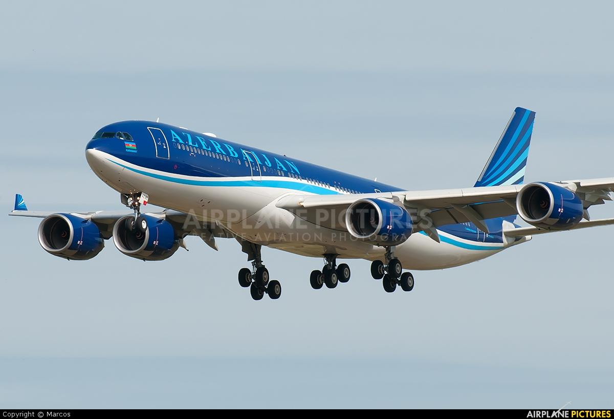 Azerbaijan Airlines 4K-AZ85 aircraft at Rome - Fiumicino