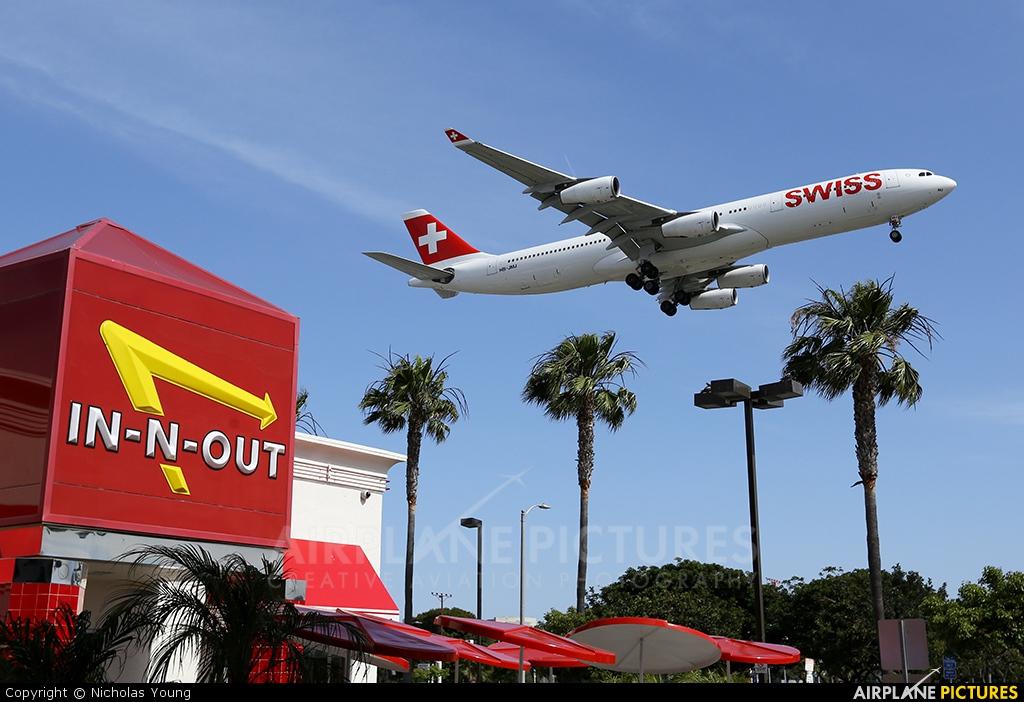 Swiss HB-JMJ aircraft at Los Angeles Intl