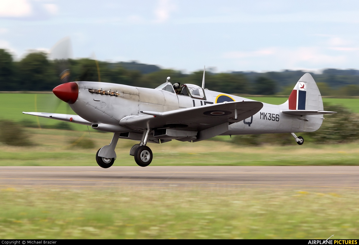 "Royal Air Force ""Battle of Britain Memorial Flight&quot MK356 aircraft at Kemble"