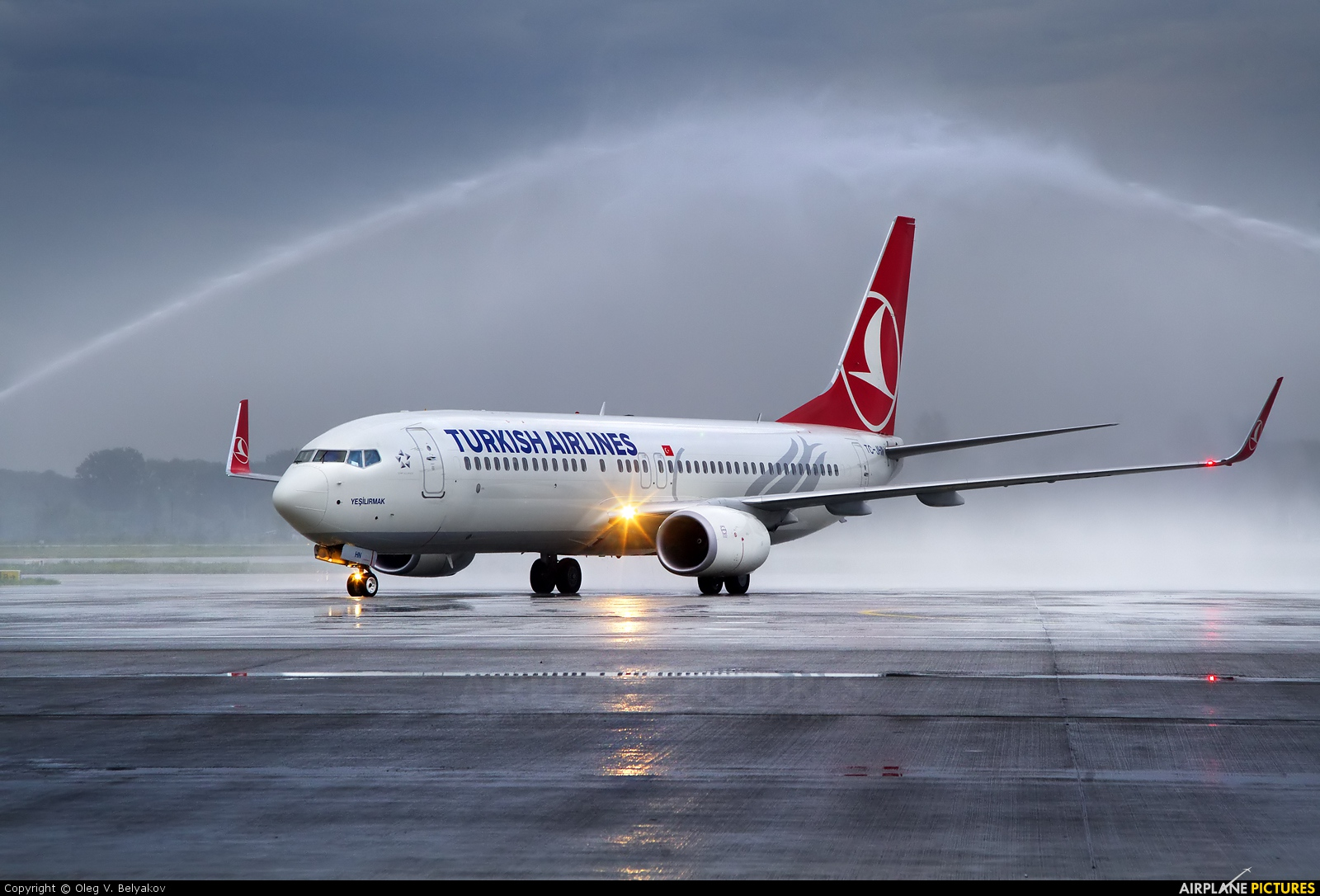 Turkish Airlines TC-JHN aircraft at Kyiv - Borispol