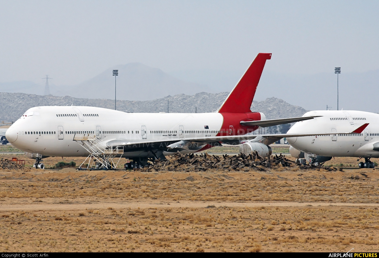 QANTAS VH-OJB aircraft at Victorville - Southern California Logistics