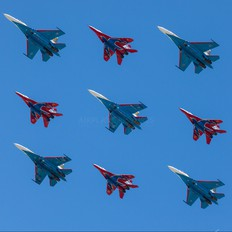 "20 - Russia - Air Force ""Russian Knights"" Sukhoi Su-27UBM"