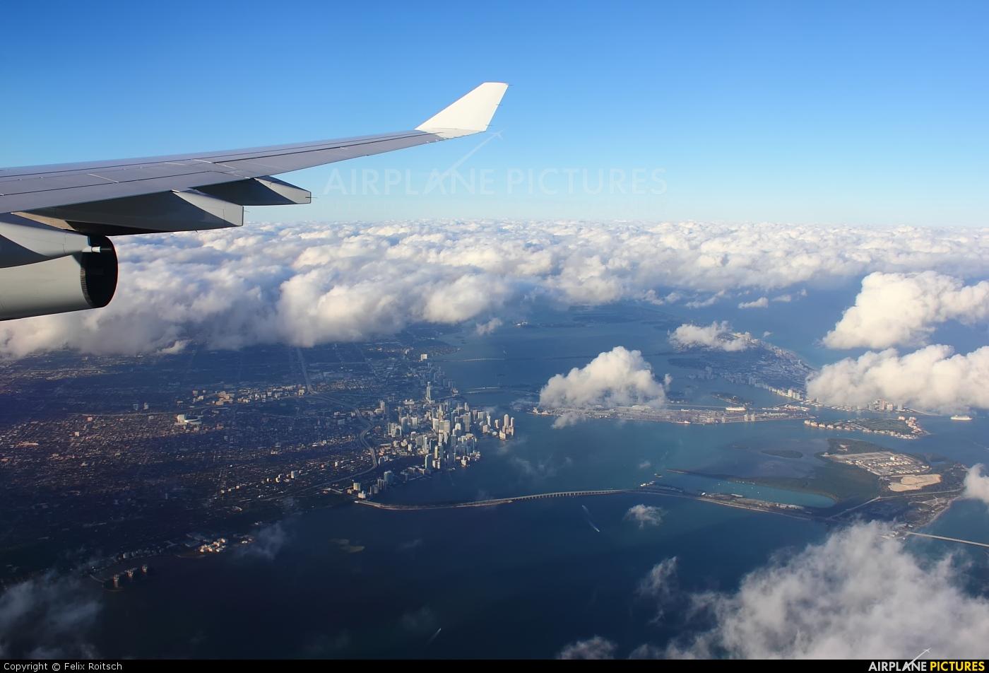 Lufthansa D-AIGS aircraft at Miami Intl